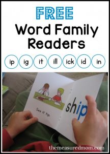 Learn to read short i word families with these free books!