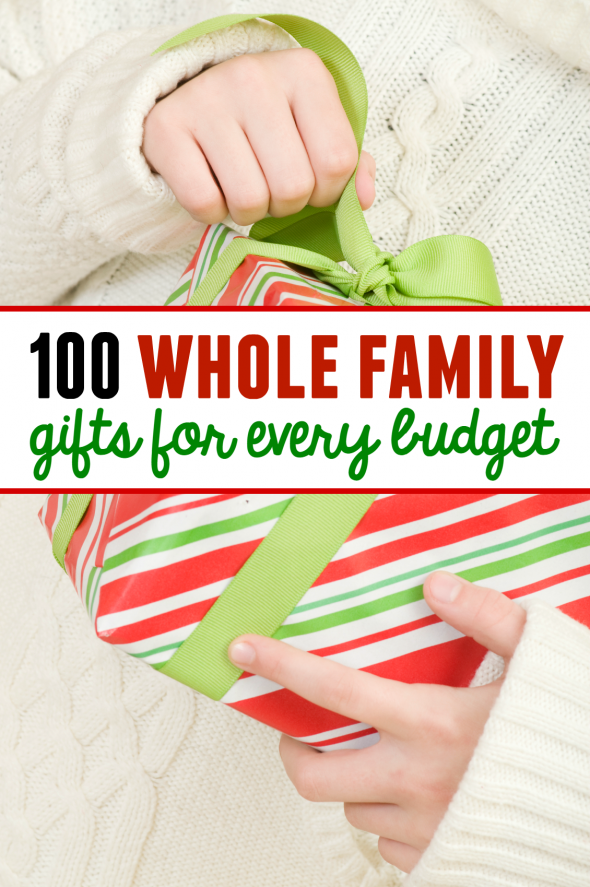 Looking for whole family gifts? These family gift ideas for Christmas have something for every budget!
