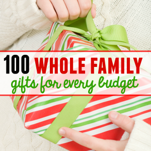 100 family gift ideas – with something for every budget!