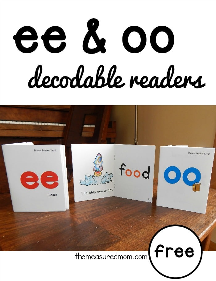 photo about Printable Decodable Books for First Grade identify Refreshing phonics publications for ee and oo words and phrases (no cost!) - The Calculated Mother