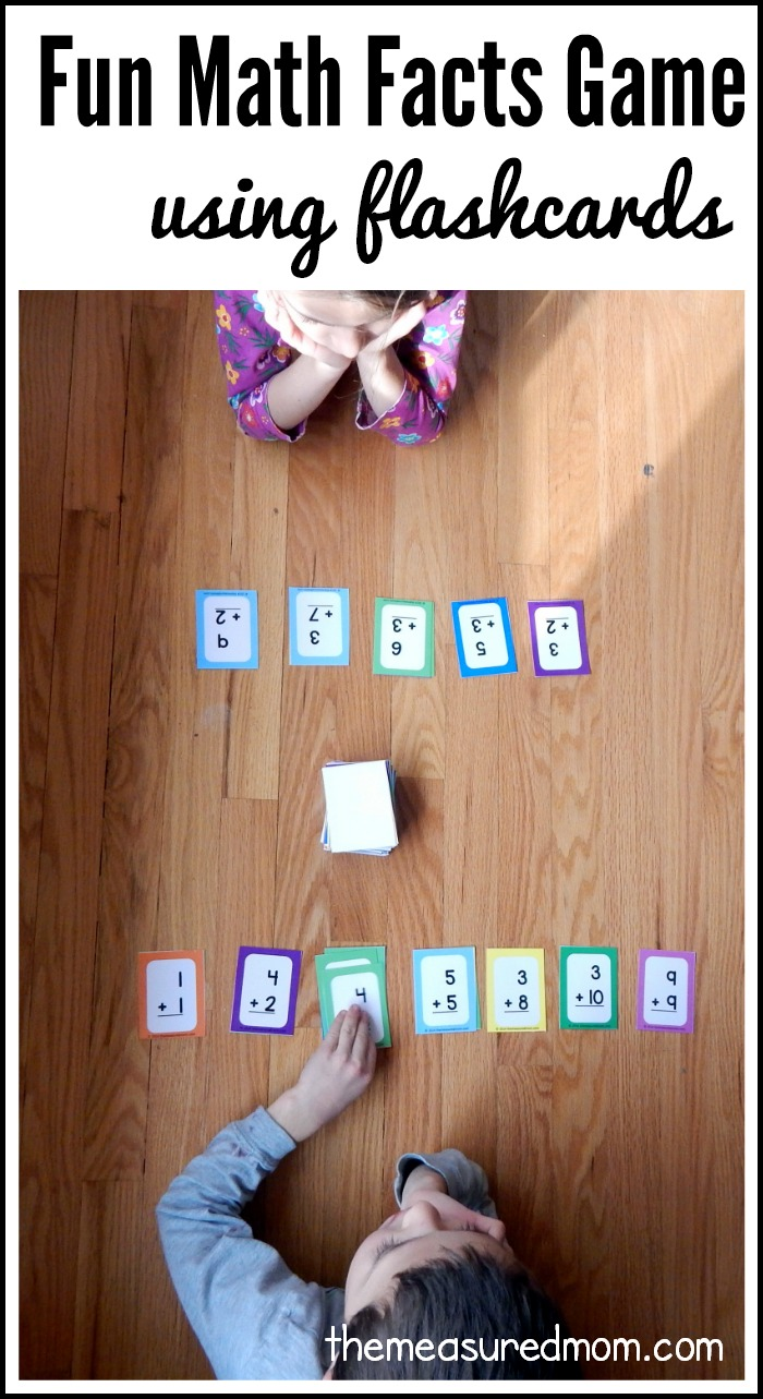 15 in a row fun math facts game using flashcards the measured mom. Black Bedroom Furniture Sets. Home Design Ideas