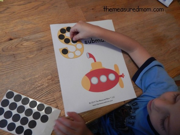 Get our free letter S printable... s is for submarine!