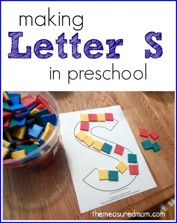 making letter S in preschool