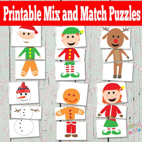40+ free printable Christmas games for kids - The Measured Mom