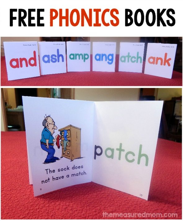 Looking for a way to focus on and, ash, amp, ang, atch, and ank words? These FREE printable phonics books are just the thing!