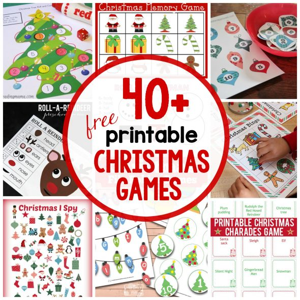 so many printable christmas games for kids