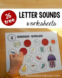 26 free beginning sounds worksheets