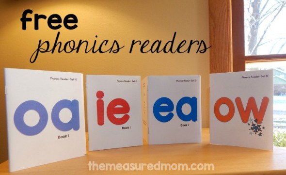 Free printable books for ea, oa, ow, and ie words - The