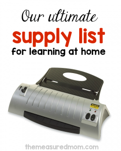 Our favorite supplies for learning and creating at home