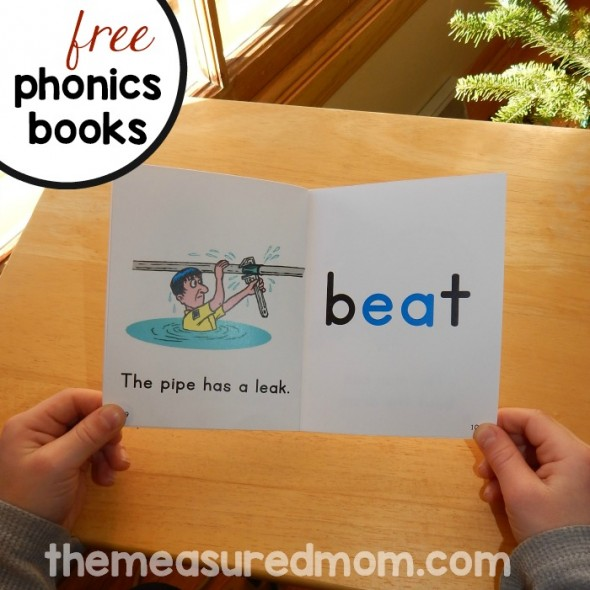 These printable phonics books teach oa words, ie words, ea words, and ow words.