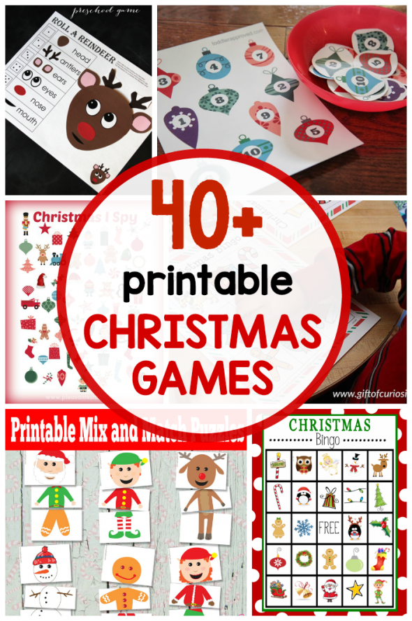 picture relating to Free Printable Christmas Games for Adults known as 40+ no cost printable Xmas game titles for small children - The Calculated Mother