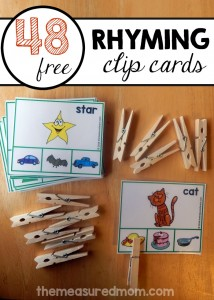 Teach rhyming words with this fun printable!