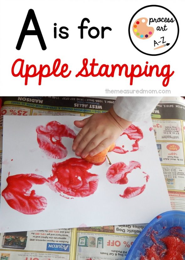 A is for Apple Stamping2