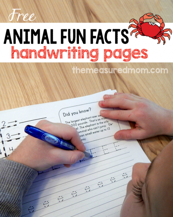 Animal Fun Facts Free Handwriting Worksheets The Measured Mom. Get This Set Of 26 Free Handwriting Worksheets Featuring Animal Fun Facts No More Boring. Worksheet. Handwriting Worksheets Colours At Clickcart.co