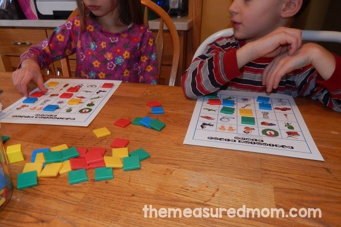 Help your child learn beginning blends and digraphs - with BINGO