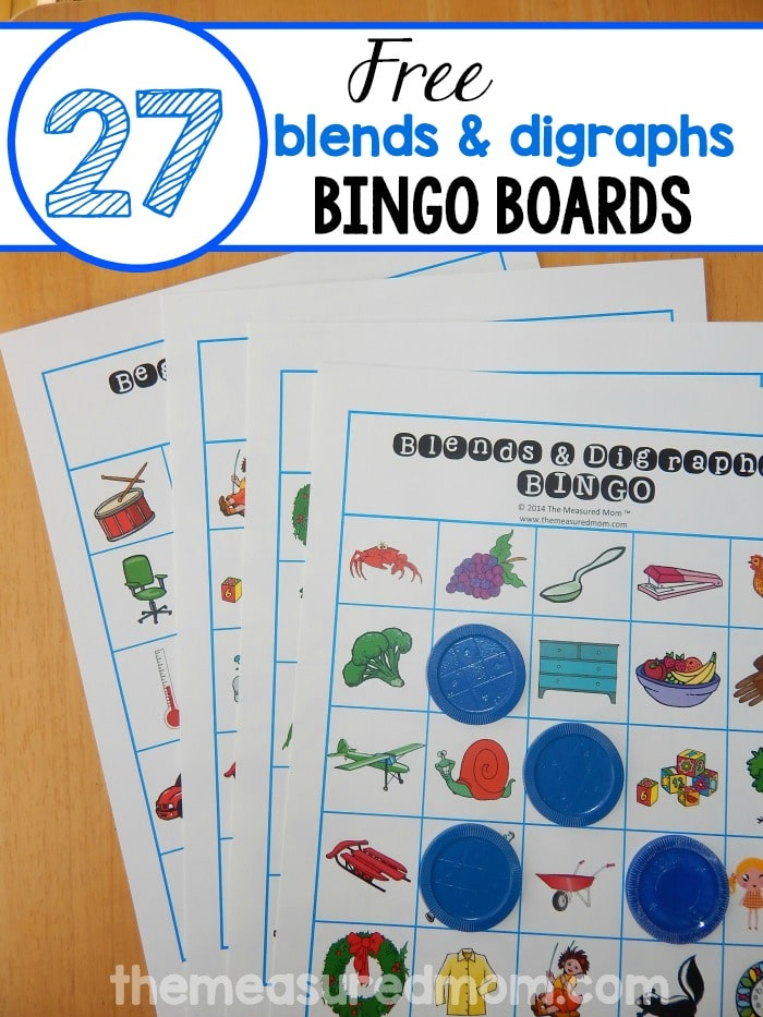 Help your child learn beginning blends and digraphs with bingo this blends and digraphs game is so much fun print just a handful or all spiritdancerdesigns Choice Image