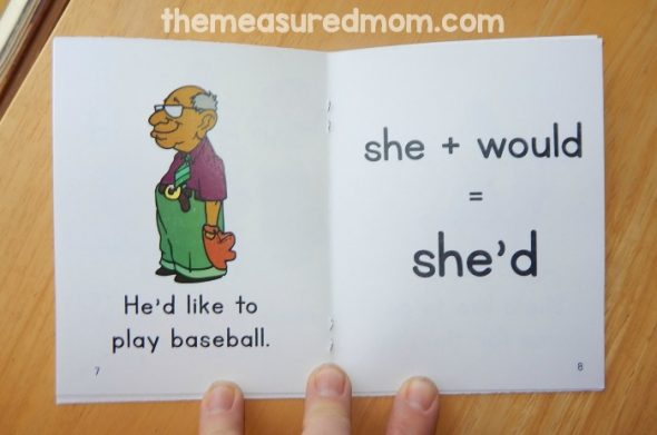 These free printable books are perfect to read alongside your contractions activities!