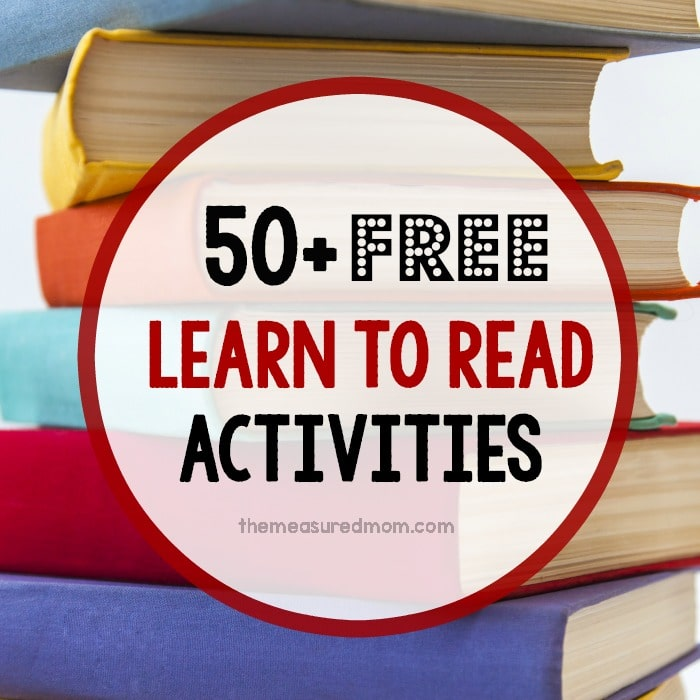 free learn to read activities square image