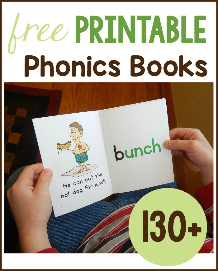 Get over 130 free phonics books to print for your early reader! My kids love 88022f2e43