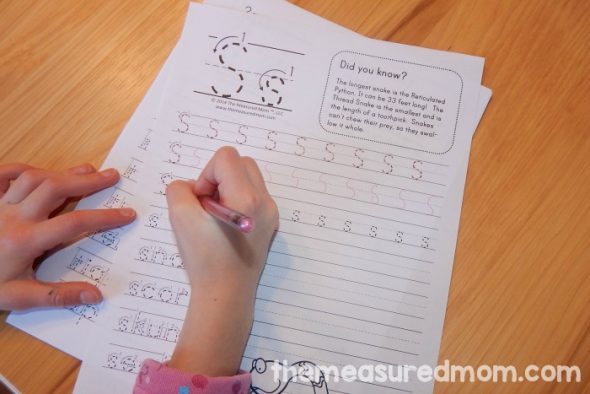 Get this set of 26 free handwriting worksheets featuring animal fun facts. No more boring handwriting practice!