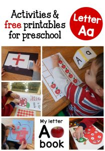 A peek at our week: Letter A Activities