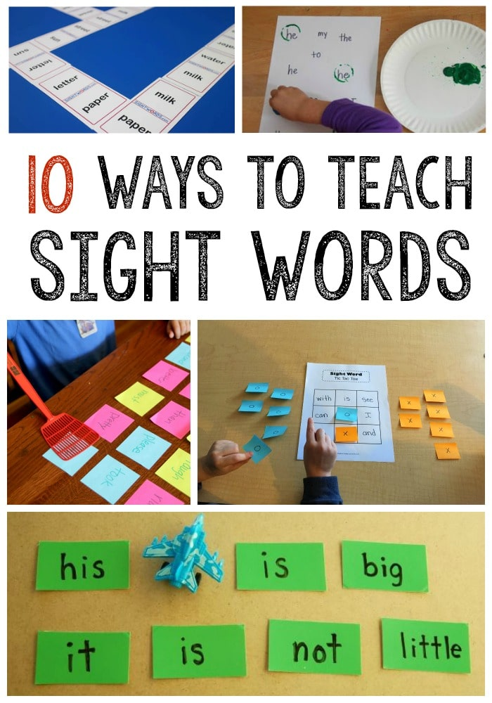10 Simple Sight Word Activities