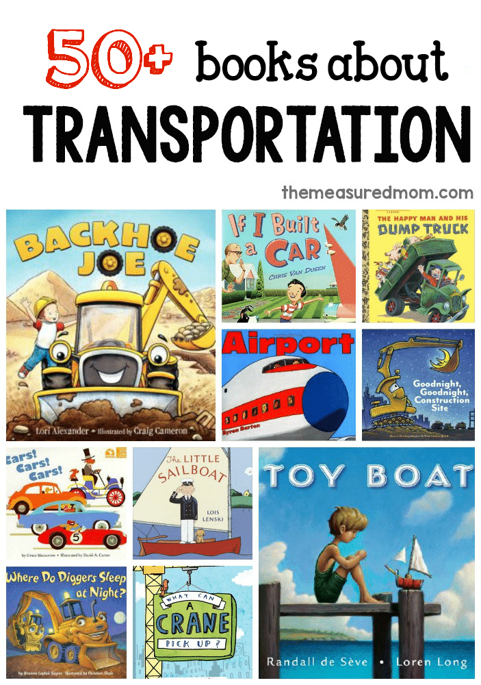 this giant list of books about transportation is perfect when youre doing a transportation - Preschool Books About Colors