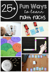 25+ fun ways to learn math facts