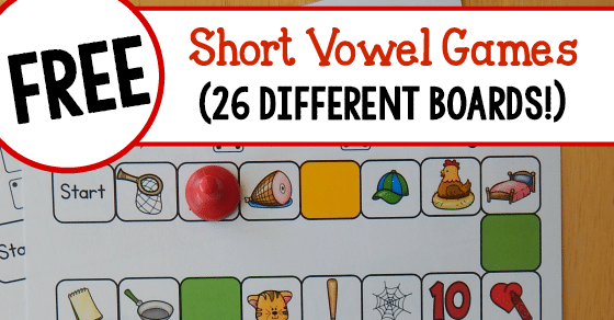 graphic regarding Printable Short Vowel Games identify 26 cost-free game titles that prepare quick vowel seems! - The Calculated Mother
