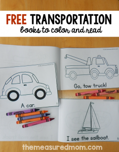 New! Transportation emergent readers