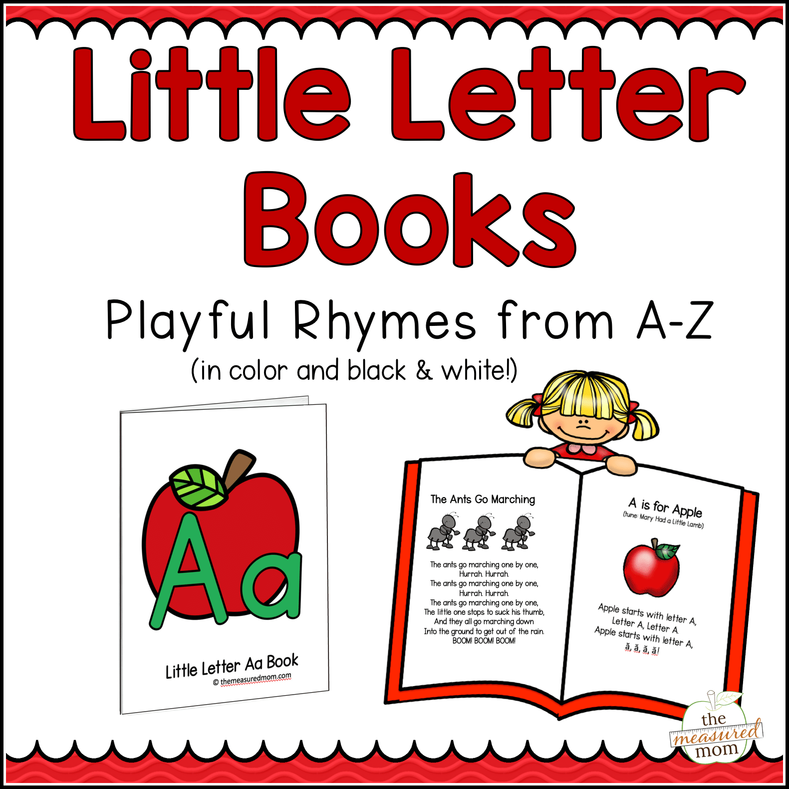 Alphabet Pictures For Each Letter Black And White.26 Letter Books Of Nursery Rhymes Songs