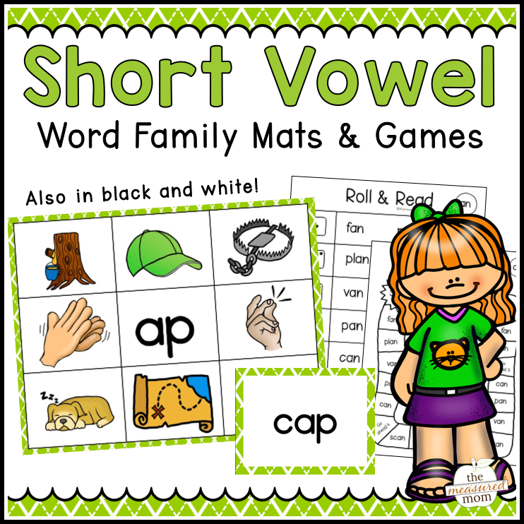 photo regarding Printable Short Vowel Games named Shorter Vowel Term Relatives Mats Online games