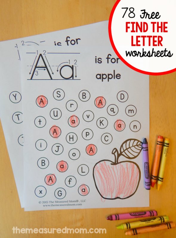Free Find The Letter Alphabet Worksheets Get Them For Uppercase Lowercase