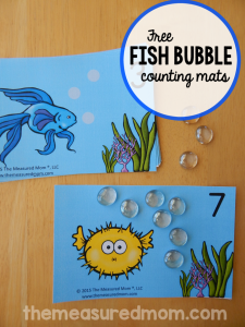 Practice one to one correspondence with these free counting mats! (#1-20)