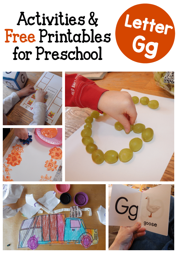 letter g crafts letter g activities for preschool a peek at our week 22861 | letter G activities for preschool