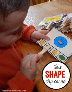 Free shape clip cards
