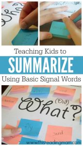 How to teach kids to summarize