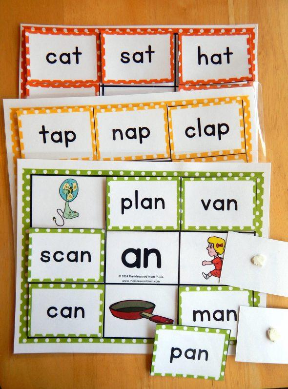 word family mats sample image