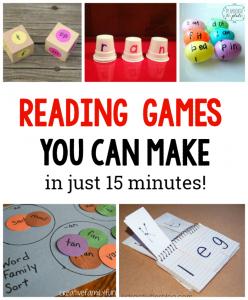 10 DIY Reading games for kids
