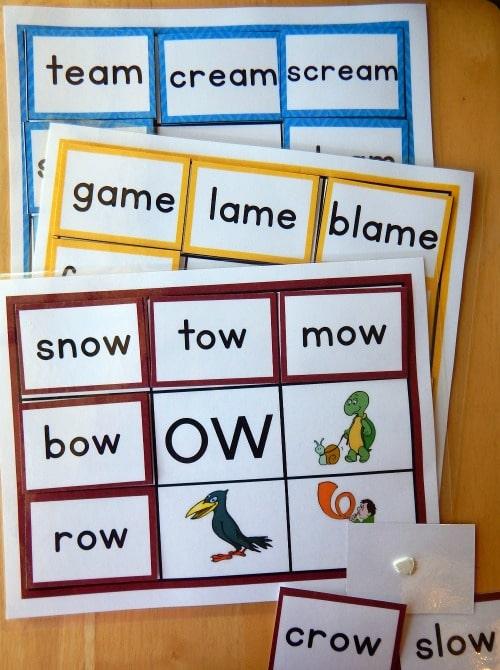 word fam mats sample