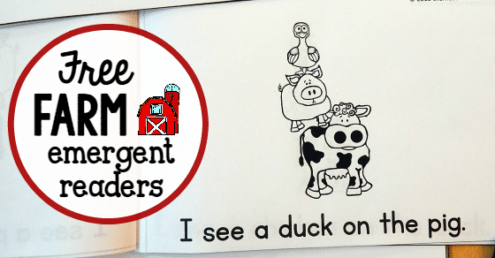 free farm emergent readers FB link share