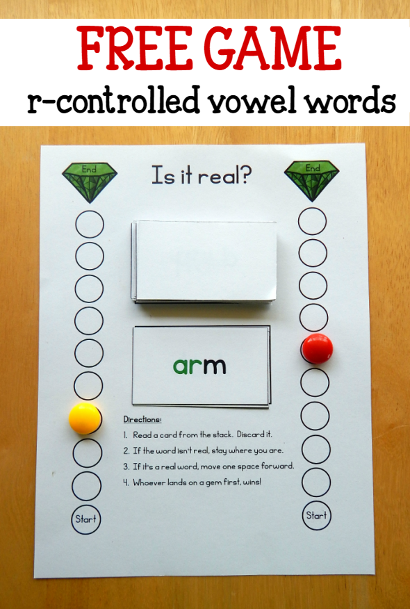 Free game for words with r controlled vowels - The Measured Mom