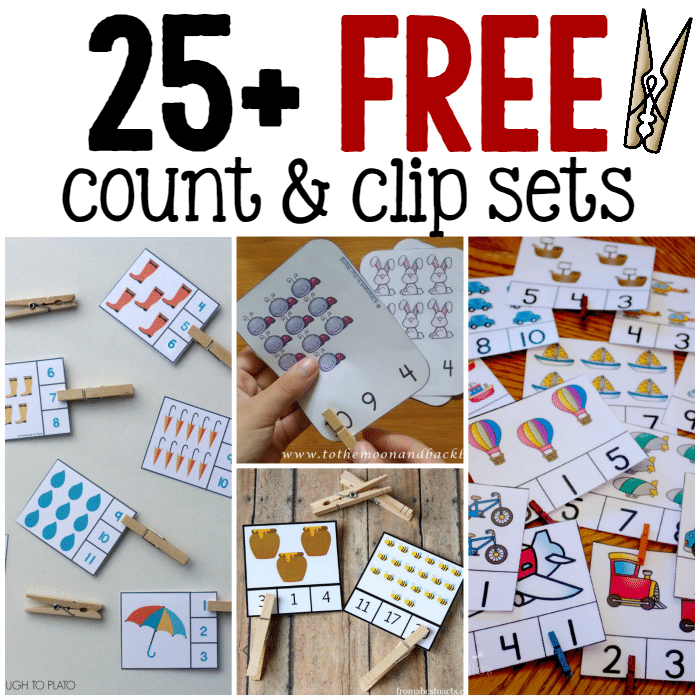 25+ sets of free count and clip cards - The Measured Mom