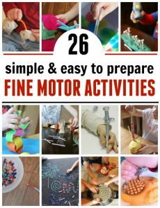 26 low-prep fine motor activities from A-Z
