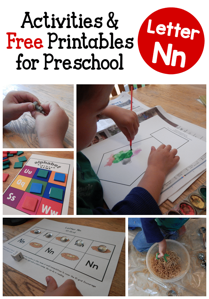Letter N Activities For Preschool The Measured Mom