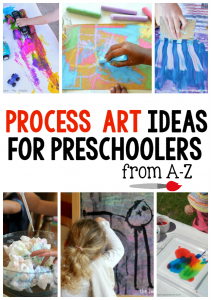 A-Z Process art ideas for preschoolers