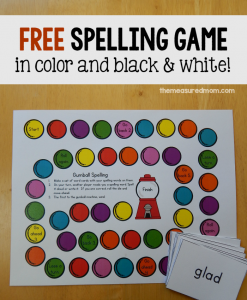 Free spelling activity (for any list!)