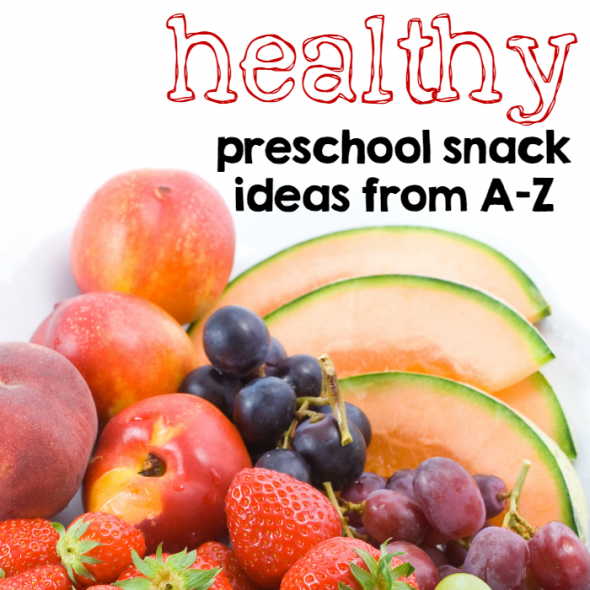 Check out these healthy preschool snack ideas! Great for any time or for letter of the week snacks.