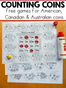 Free money games for K-2 – with American, Canadian, and Australian coins!