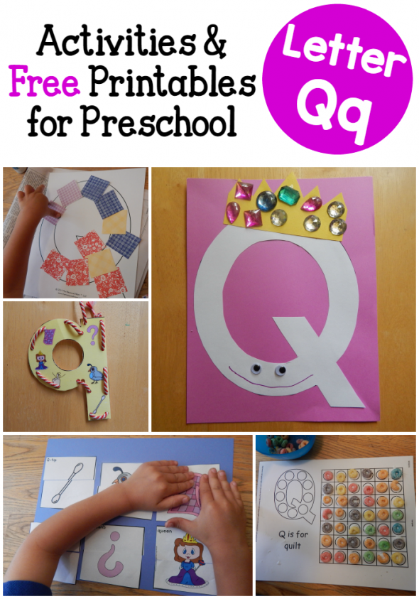Look at all the fun we had learning about letter Q! You'll find a variety of free printables in this collection of letter Q activities.